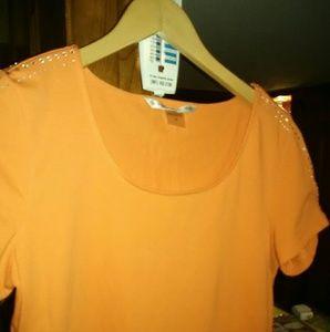 Medium orange Peter Nygard top
